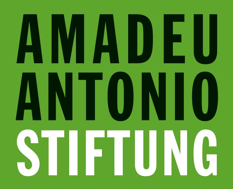 Logo: Amadeu Antonio Stiftung
